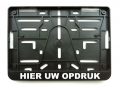 MOTORBIKE LICENSE PLATE HOLDER BELGIUM CUSTOMISED
