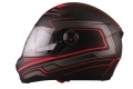 HELMET VITO FALCONE FULL FACE + SUN VISOR -MATTE BLACK / RED