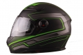 HELMET VITO FALCONE FULL FACE + SUN VISOR MATTE BLACK / GREEN