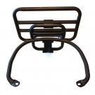 APLUS REAR CARRIER FITTING ON VESPA GTS -  MAT BLACK