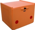 PIZZA BOX ORANGE DOUBLE INSULATION 90 LITERS