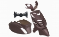 BODY KIT APLUS FITTING ON PIAGGIO ZIP-SP 5-PIECES - MATTE BROWN