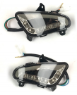 LED INDICATOR LIGHT REAR LEFT + RIGHT LOOK A LIKE LX/S SMOKE ( MOVING )