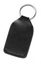KEY RING ARTIFICAL LEATHER RECTANGLE BLACK